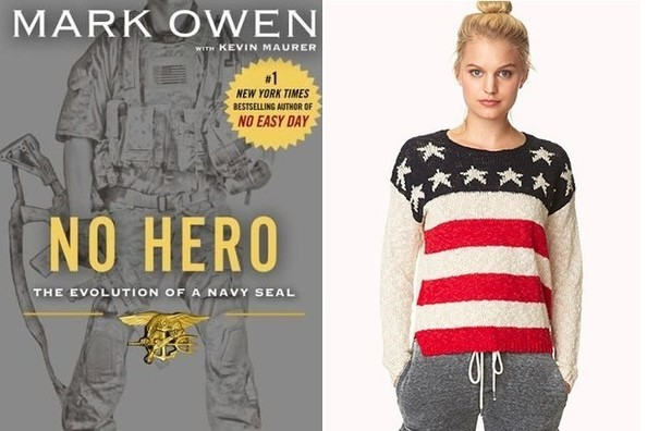 """<strong>Forever 21</strong> Stand Out Americana Sweater, $20, at <a  target=""""_blank"""" href=""""http://bit.ly/1DUjOG9"""" target=""""_blank"""">Forever 21</a>"""