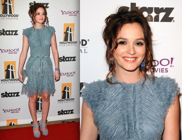 Look of the Day: Leighton Meester in Elie Saab