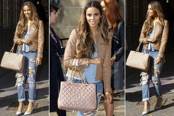 How to Dress Up Distressed Denim, According to Rochelle Humes