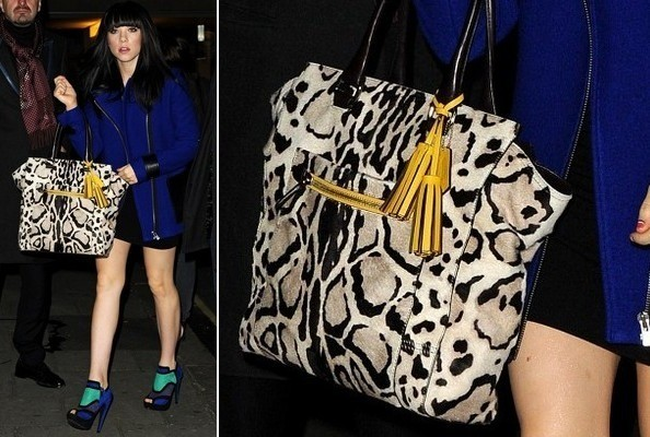 Get the Bag: Carly Rae Jepsen's Animal-Print Tote