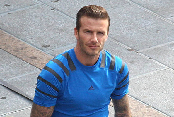 David Beckham Shoots Adidas Commercial: Cue Swoon
