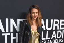 Look of the Day: Jessica Alba's Golden Edge