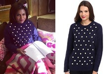 Found: Mindy Kaling's Polka-Dot Sweater