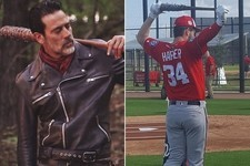 These Major Leaguers Are Big Fans of Lucille & 'The Walking Dead'