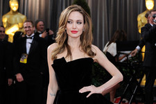 Angelina Jolie Off-the-Shoulder Dress