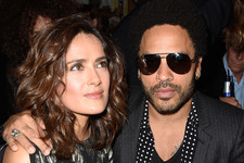Salma Hayek and Lenny Kravitz Are Fashion Friends
