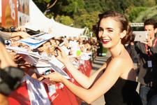 Lily Collins Delivers Major Glamor in Rome