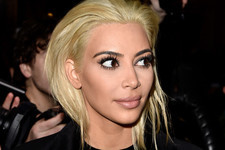 Kim Kardashian Goes Blonde—Really Blonde