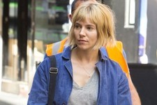Sienna Miller Frumps It Up on Set