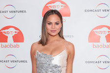 Look of the Day: Chrissy Teigen's Embroidered Glam