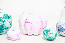 No-Carve Marbleized Pumpkins
