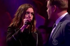 Anne Hathaway and James Corden Diss Each Other in This Hilarious Rap Battle