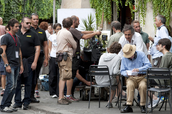 "Director Woody Allen is seen on set of his new movie ""Bop Decameron"".  It is reported that Jessie Eisenberg will star along side ""Departed"" star Alec Baldwin and Penelope Cruz."
