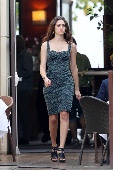 "Actress Emmy Rossum on the set of the Showtime series ""Shameless""  in downtown Los Angeles.  Rossum went through different looks through out the day."