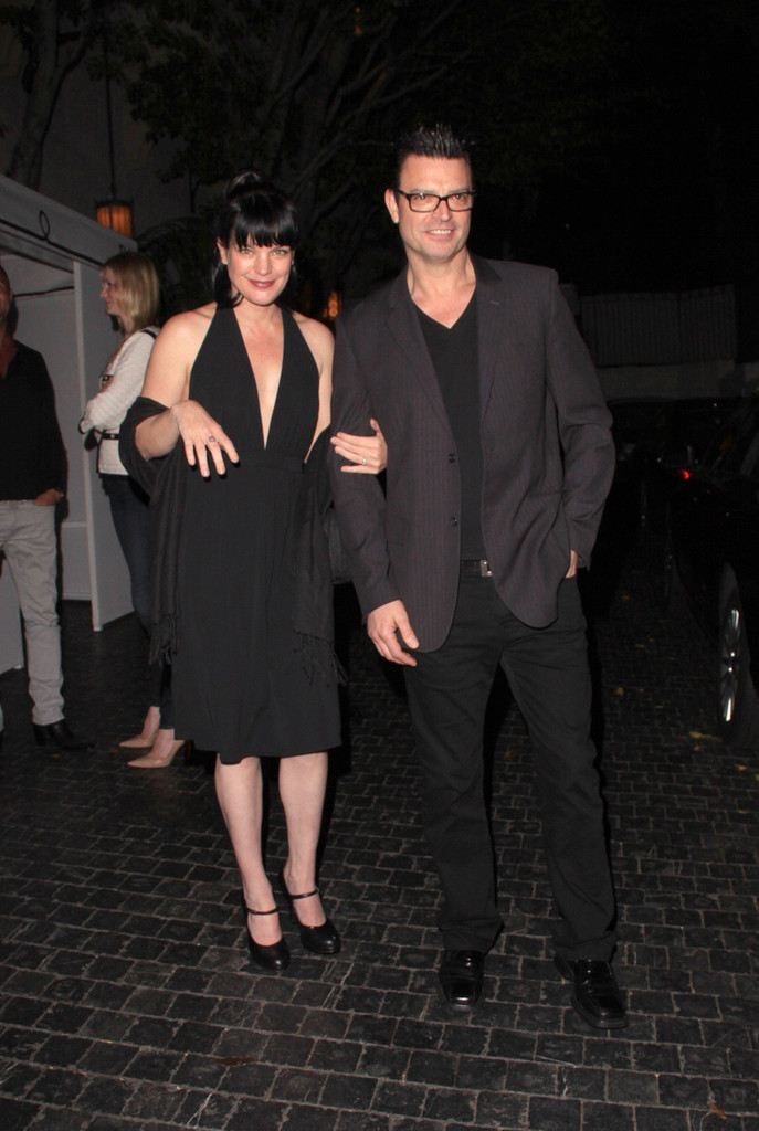 Pauley Perrette with cool, Boyfriend Thomas Arklie
