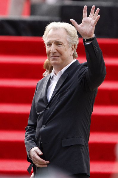 "Alan Rickman Alan Rickman arrives at the premiere of the last installment of ""Harry Potter"" held at Lincoln Center in New York."