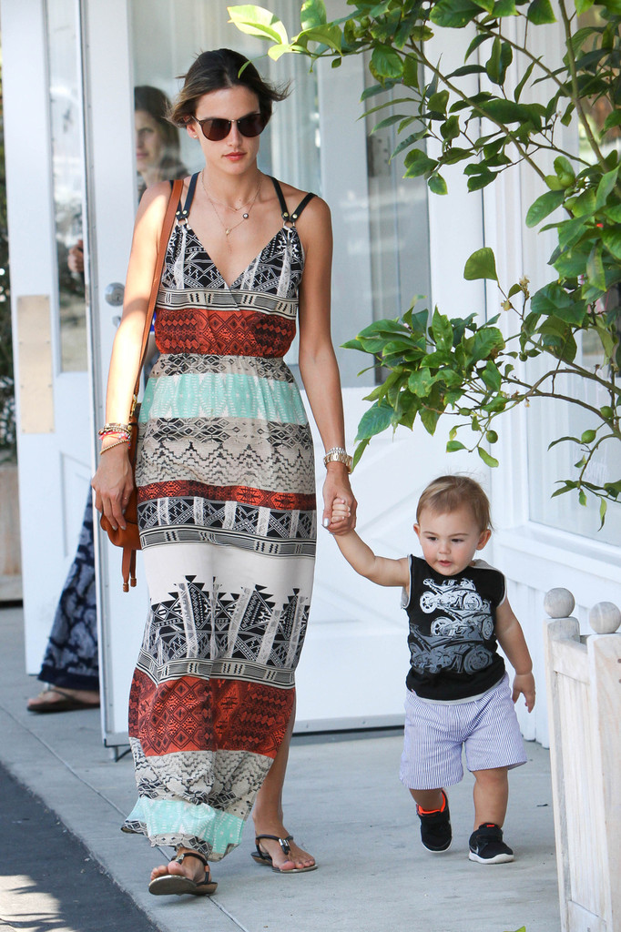 Found: Alessandra Ambrosio's Tribal-Print Maxi Dress