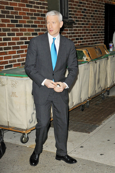 Anderson+Cooper in Anderson Cooper Heads to 'Letterman' 2