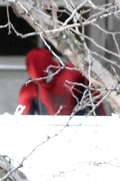 """Scenes from the """"Spider-Man"""" Set in NYC 2"""