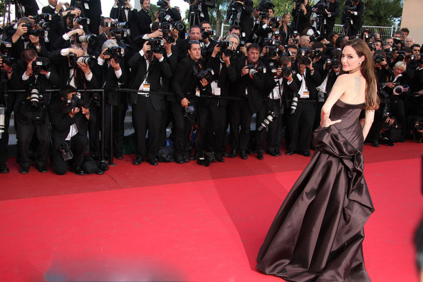 "Angelina Jolie Angelina Jolie arrives before the screening of ""The Tree of Life"", held during the 64th Annual Cannes Film Festival."