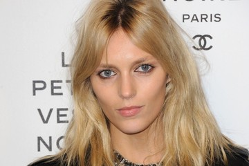 Anja Rubik Laetitia Hallyday attending the 'Chanel The Little Black Jacket' exhibition launch at the Grand Palais in Paris