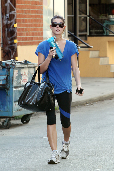 "Ashley Greene looks to be getting in shape for the final two installments of ""The Twilight Saga"" as she is seen leaving her gym after working out for nearly three hours. Photograph: James Breeden/Nathanael Jones, © PacificCoastNews."