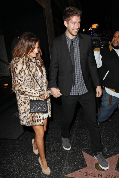 "Ashley Tisdale Ashley Tisdale, of ""High School Musical,"" and her boyfriend Scott Speer hold hands as they leave Hollywood hotspot, Katsuya after dinner."