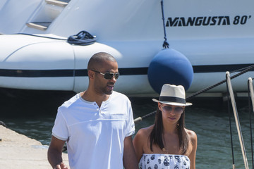 Axelle Francine Tony Parker and His Fiance Out in Sunny St. Tropez