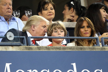 Barron Trump Celebs at the Opening Night of the US Open
