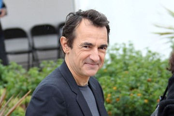 Albert Dupontel Benoit Poelvoorde seen attending a photocall for new film 'Le grand soir' where he joked with photographers and destroyed the decorations at the Cannes Film Festival 2012 in France
