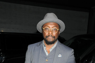 Black Eyed Peas William Adams, aka will.i.am of The Black Eyed Peas, stops to pose with fans before heading into his midtown hotel in New York City