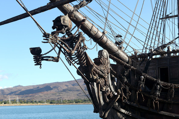 black pearl from pirates of the caribbean docked in hawaii the black