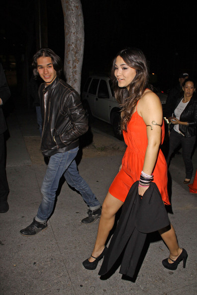 Boo Boo Stewart - Booboo and Fivel Stewart seen outside the NYLON Magazine 13th Anniversary celebration held at Smashbox Studios, Los Angeles