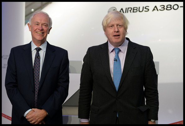 Boris Johnson at the Opening of The Emirates Aviation Experience at the Greenwich Peninsula Terminal in London