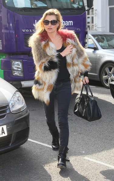 British model Kate Moss with pal Fiona Young out and about in Notting Hill