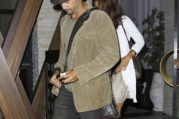 Brooke Burke David Charvet Brooke Burke and David Charvet enjoy a meal together at Red O in Hollywood