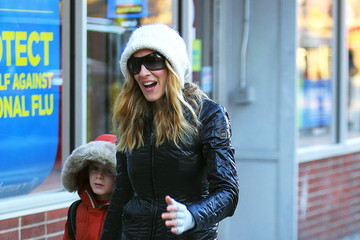 James Parker Sarah Jessica Parker and Son James Walk in NYC