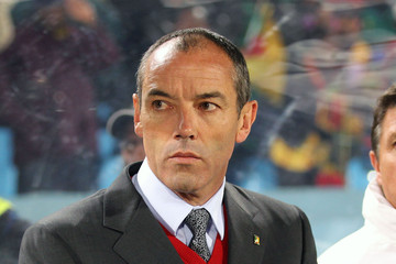 Paul Le Guen Cameroon v Denmark at the 2010 World Cup
