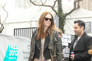 Canadian model Coca Rocha heads for home after an event at New York City's Mercedes-Benz Fashion Week.