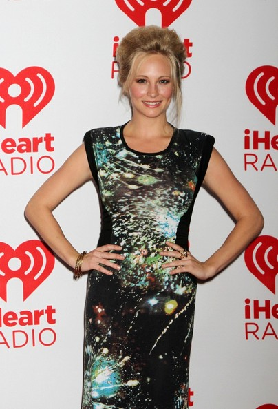 Candice Accola Candice Accola seen arriving to the second day of the IHeart Radio Music Festival held at the MGM Grand Garden Arena, MGM Grand Hotel and Casino Las Vegas.