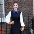 Captain America Actress Hayley Atwell seen posing for photographs as she arrives at the opening of the Fashion Rules exhibition at Kensington Palace in London