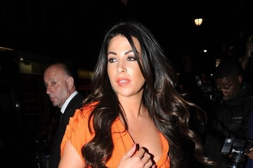 "Cara Kilbey Kelly Brook arrives at the after-party for ""Keith Lemon: The Film"" held at Planet Hollywood in London."