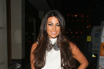 Cara Kilbey Alexandra Burke seen leaving Novikov restaurant at 2.30am via the back door with the help of three security officers in London