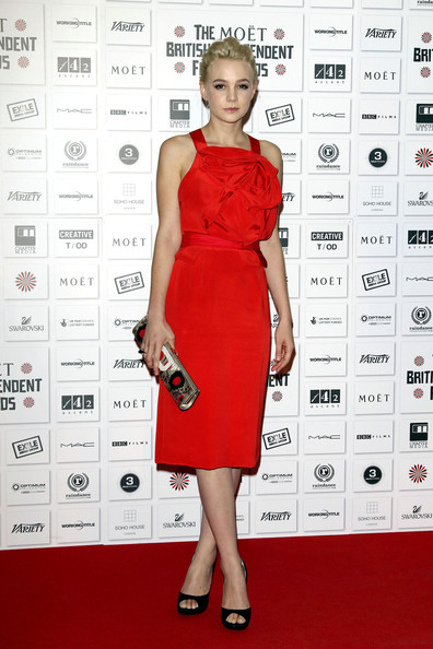 Carey Mulligan on the red carpet at the Moet British Independent Film Awards at the Old Billingsgate Market, London. Carey won an award for the Best Performance by an Actress in a British Independent Film.