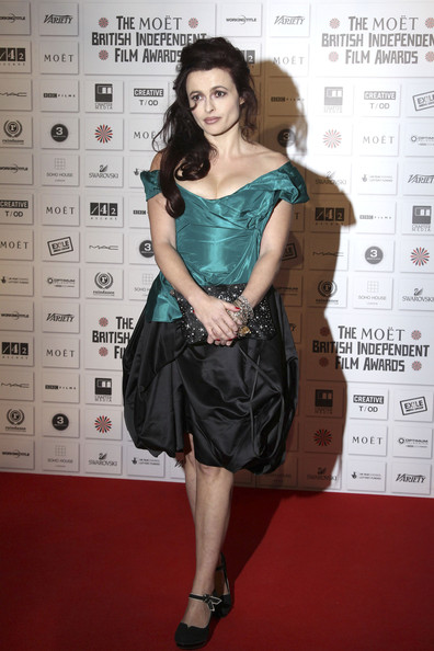 Helena Bonham Carter on the red carpet at the Moet British Independent Film Awards at the Old Billingsgate Market, London.