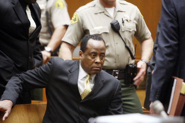 Dr. Conrad Murray at Los Angeles Superior Court in Los Angeles