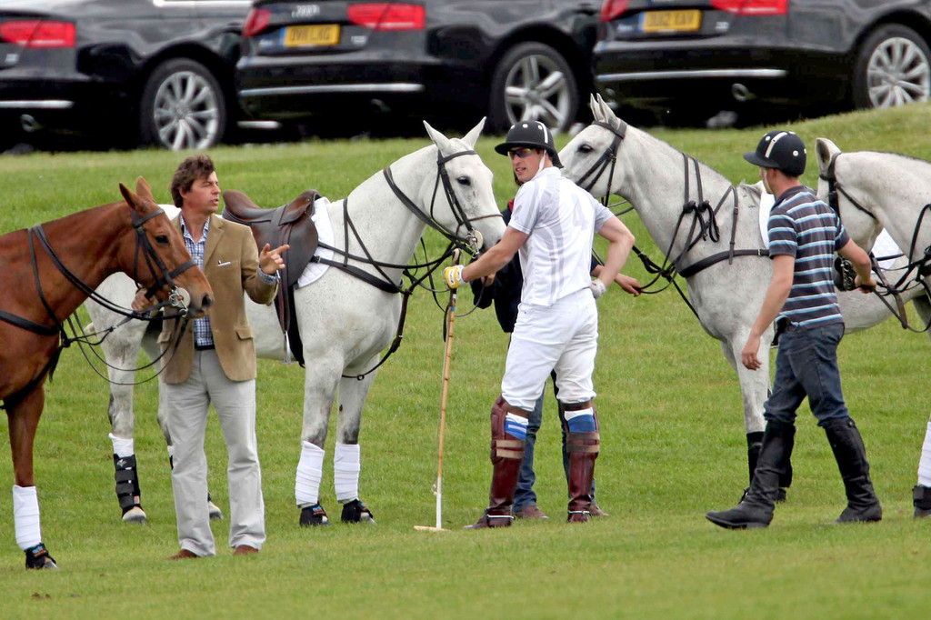 prince harry in will and kate at the polo match zimbio. Black Bedroom Furniture Sets. Home Design Ideas