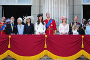 The Duke and Duchess of Cambridge join HRH Queen Elizabeth II and the Royal Family in watching the Trooping the Colour parade from Buckingham Palace.