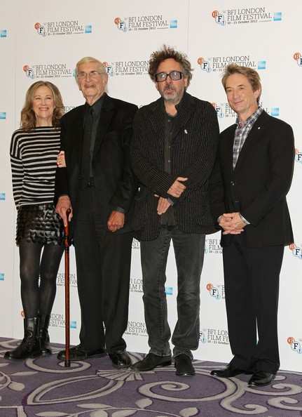Catherine O'Hara and Tim Burton seen attending a photocall for new animated film 'Frankenweenie' held at the Corinthia Hotel, London
