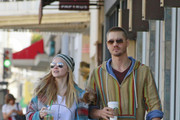 Chad Michael Murray and fiance Kenzi Dalton stop for some Starbucks before heading on a walk around Los Angeles.